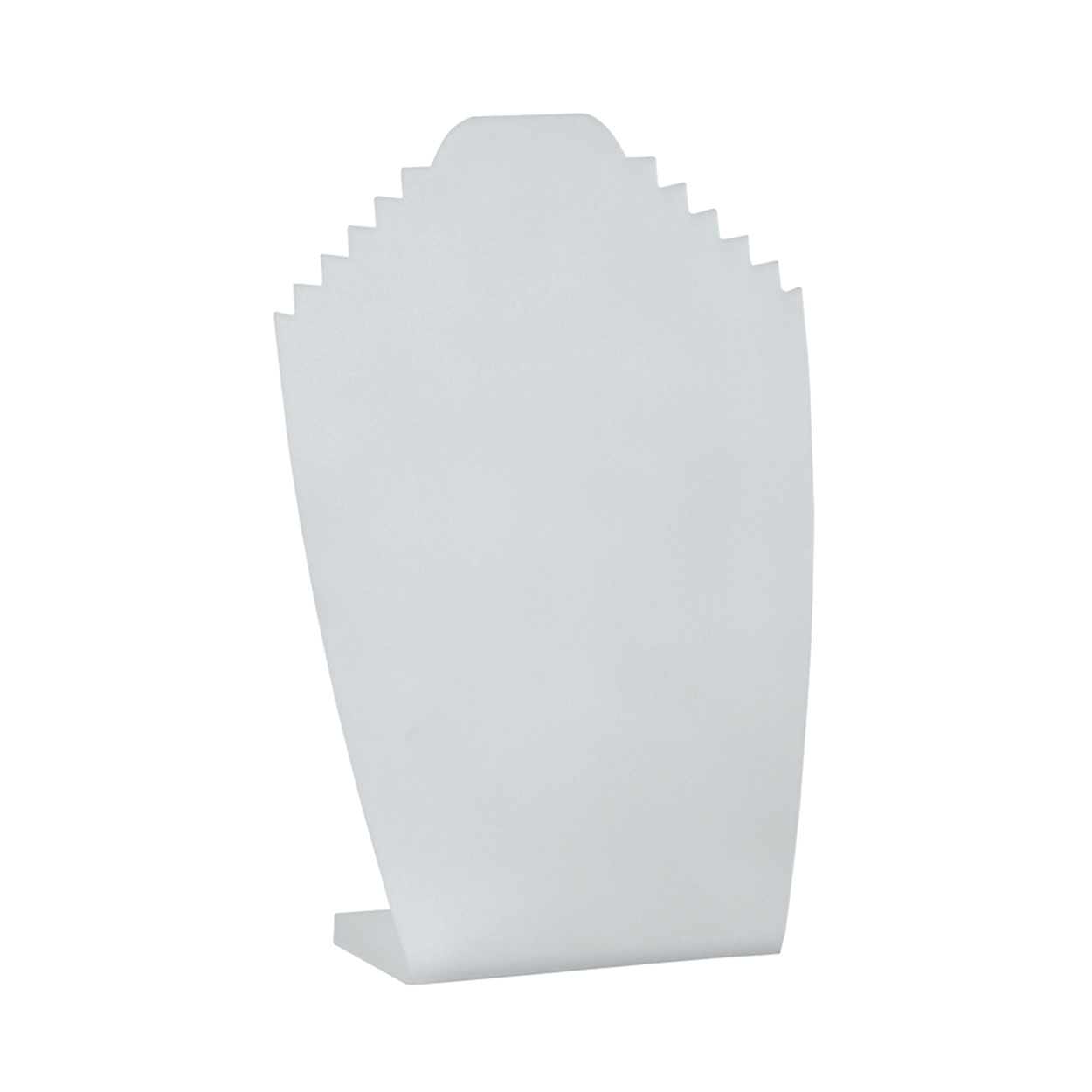Pack of 2 Large White Acrylic Necklace Display Stand. Height 300mm