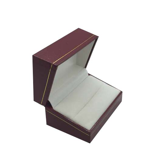 Price for 1 Premium Red Leatherette Cuff Link Gift Box. Dim 70(w) x 48(d) x 38mm(h).