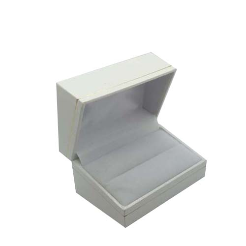 Price for 1 Premium White Leatherette Cuff Link Gift Box. Dim 70(w) x 48(d) x 38mm(h).