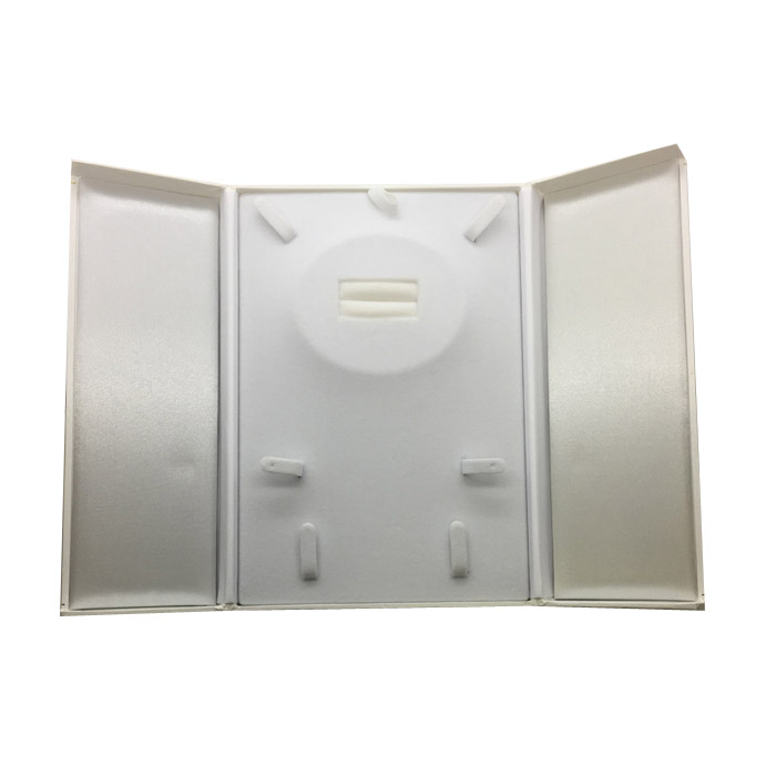 Large Premium White Leatherette Multi Purpose Set Gift Box. Dim 140(w) x 200(d) x 30mm(h).