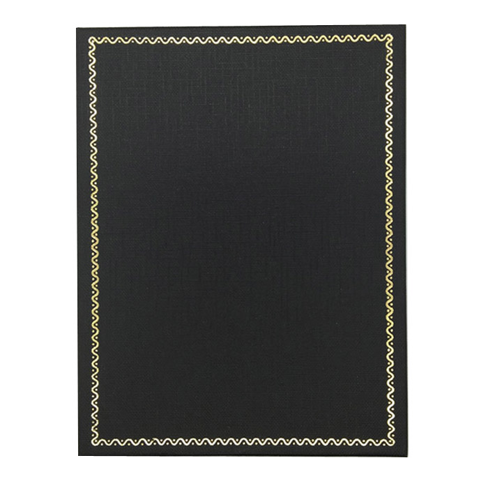Packet of 12 - Premium Solid Large Black Cardboard Set Gift Box with Gold Trim Border. Dim 160(w) x 125(d) x 30mm(h).