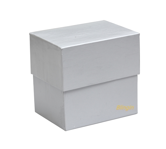 Pack of 12 Silver Multi-purpose Gift Boxes 60mm(W) x 80mm(L) x 80mm(H). - Click Image to Close