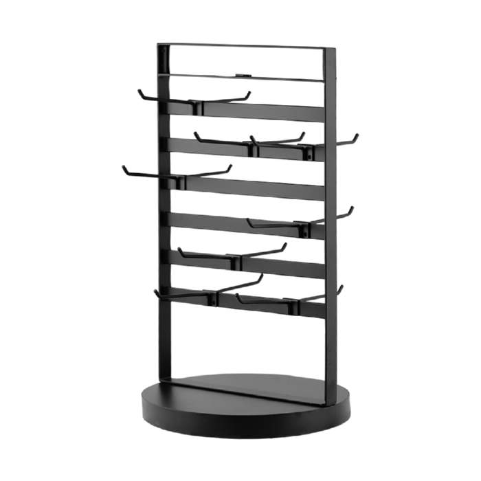 Jewellery Display Spinner with 9 hooks. Dimension 500 H x 280mm Diameter.
