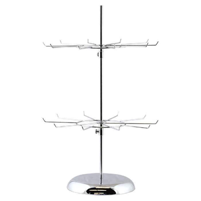 Jewellery Display Spinner - 10 prongs and 2 spinners. Height approx 600mm