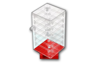 Earring Display Cabinet Red Base