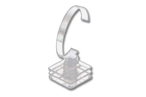 Bracelet or Watch Holder Clear Acrylic. Dim - Height 90mm (Bendable) x Base Width 50mm.