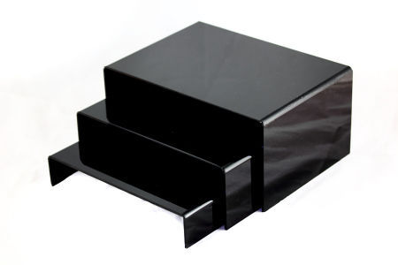 Acrylic Jewellery Display Riser 3 Set Black