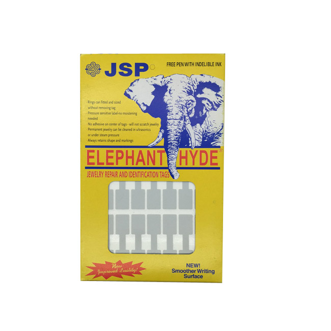 Pack of 960 Silver Adhesive Rectangular Jewellery Dumbbell Tag Labels With Free Pen. Dim 45mm(L) x 10mm(W).