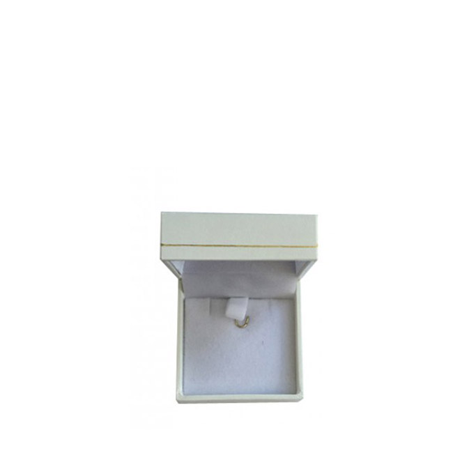 Price for 1 x Small Premium White Leatherette Earring and Pendant Gift Box. Dim 50(w) x 50(d) x 28mm(h).