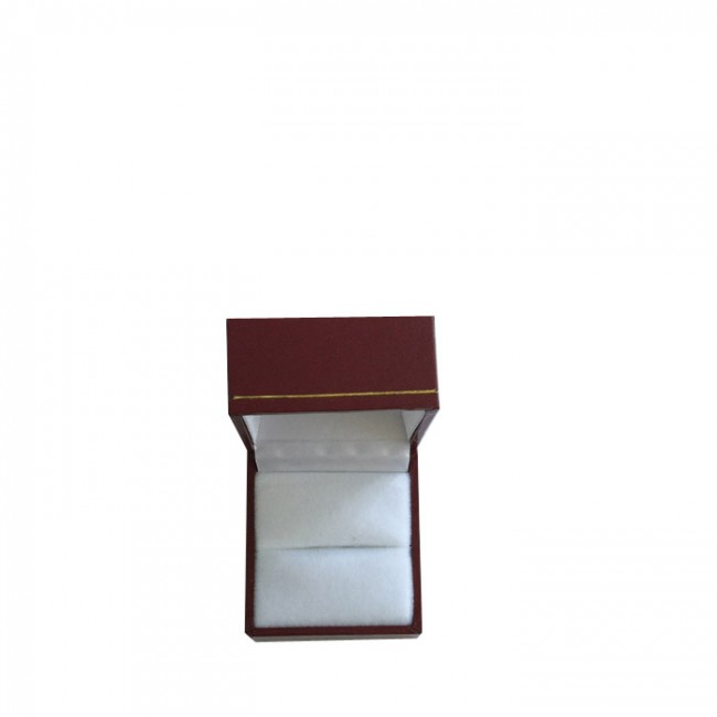 Price for 1 Small Premium Burgundy Leatherette Ring Gift Box. Dim 45(w) x 50(d) x 35mm(h).