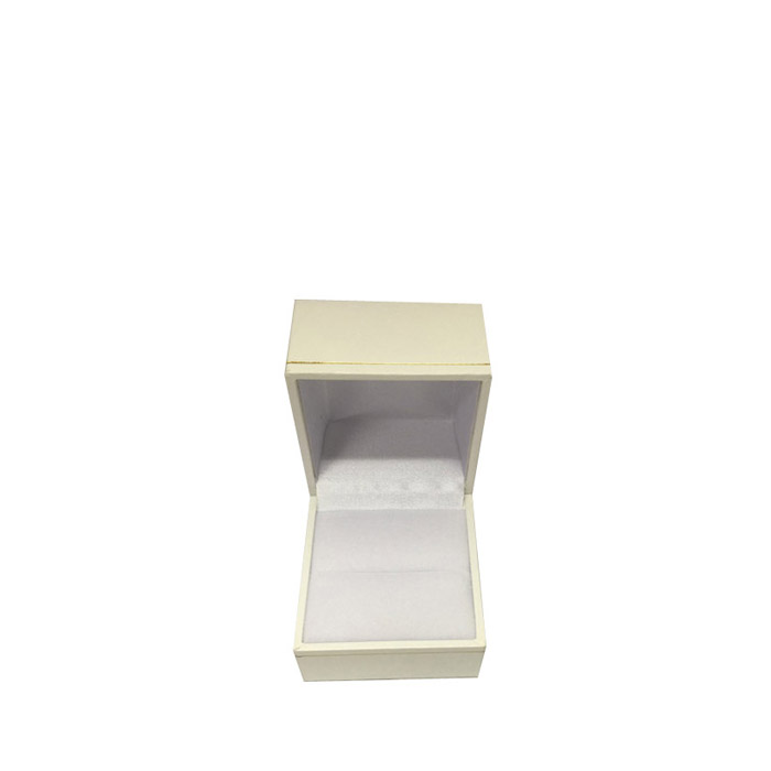Price for 1 Small Premium White Leatherette Ring Gift Box. Dim 45(w) x 50(d) x 35mm(h).