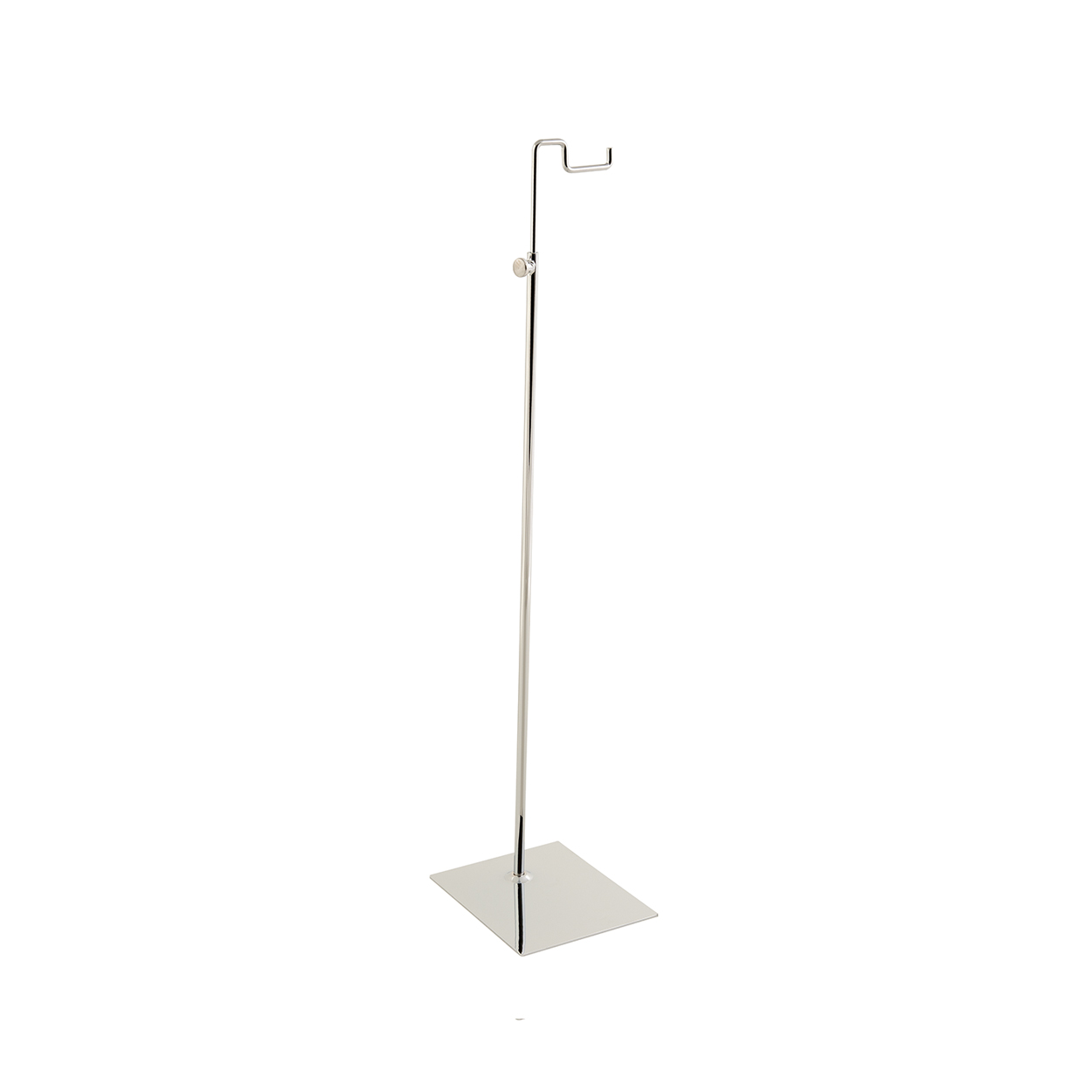 Large Budget Handbag Display Stand With Solid Base and adjustable height.