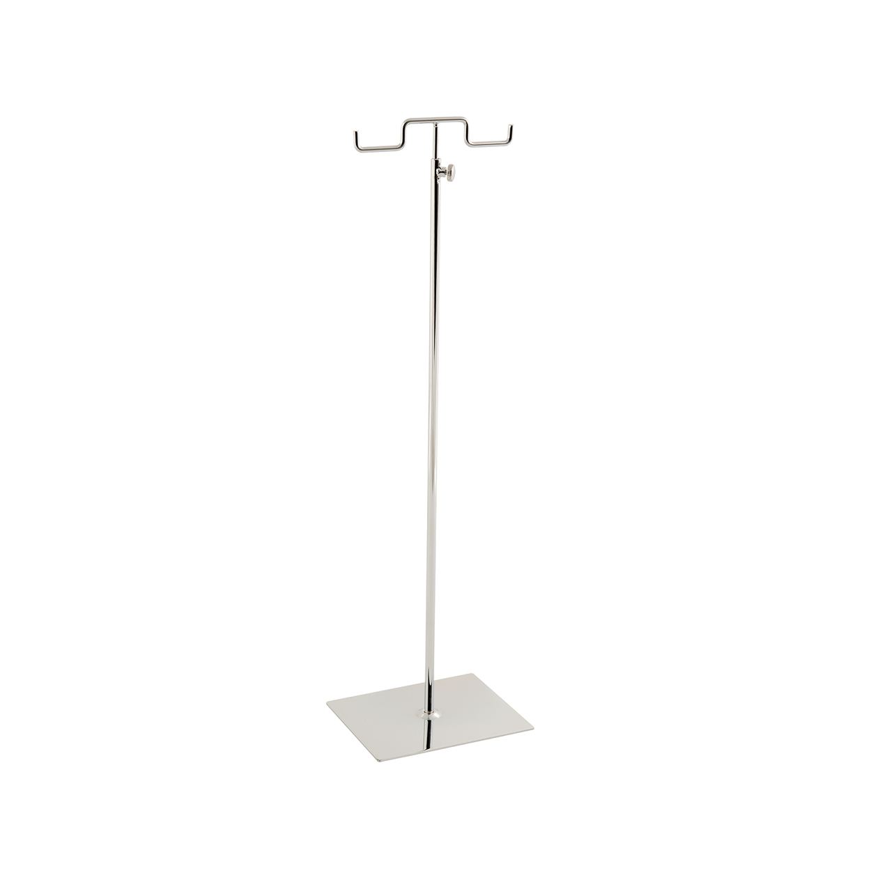 Large Budget Double Sided Handbag Display Stand With Solid Base and adjustable height.