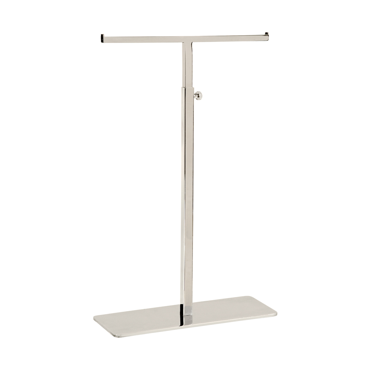 Large Standard Double Sided Handbag Display Stand With Solid Base and adjustable height.