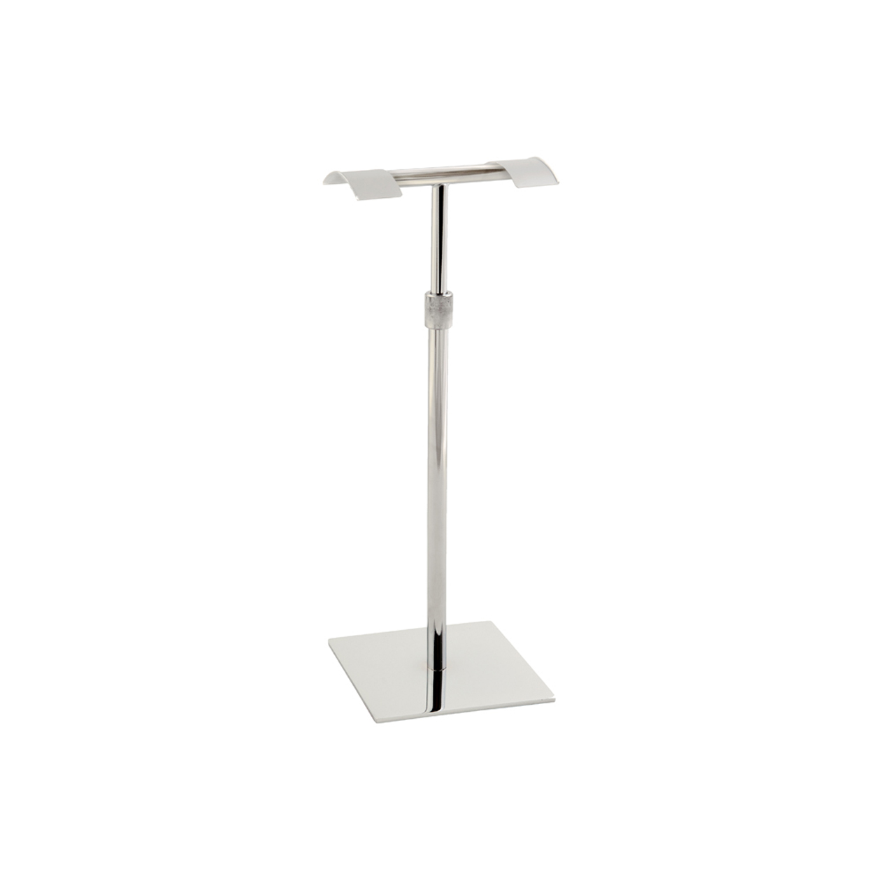 Premium Handbag Double side Display Stand - Dimensions 150mm square base and 326-610mm Adjustable Height.