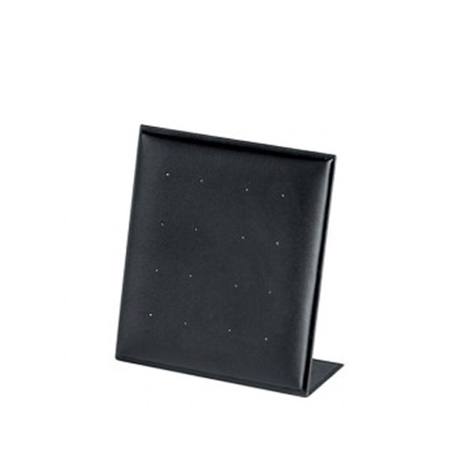 Soft Padded Black Leatherette Stud Earring Display Stand. Holds 8 Pairs. Dim 100 W x 110mm H.