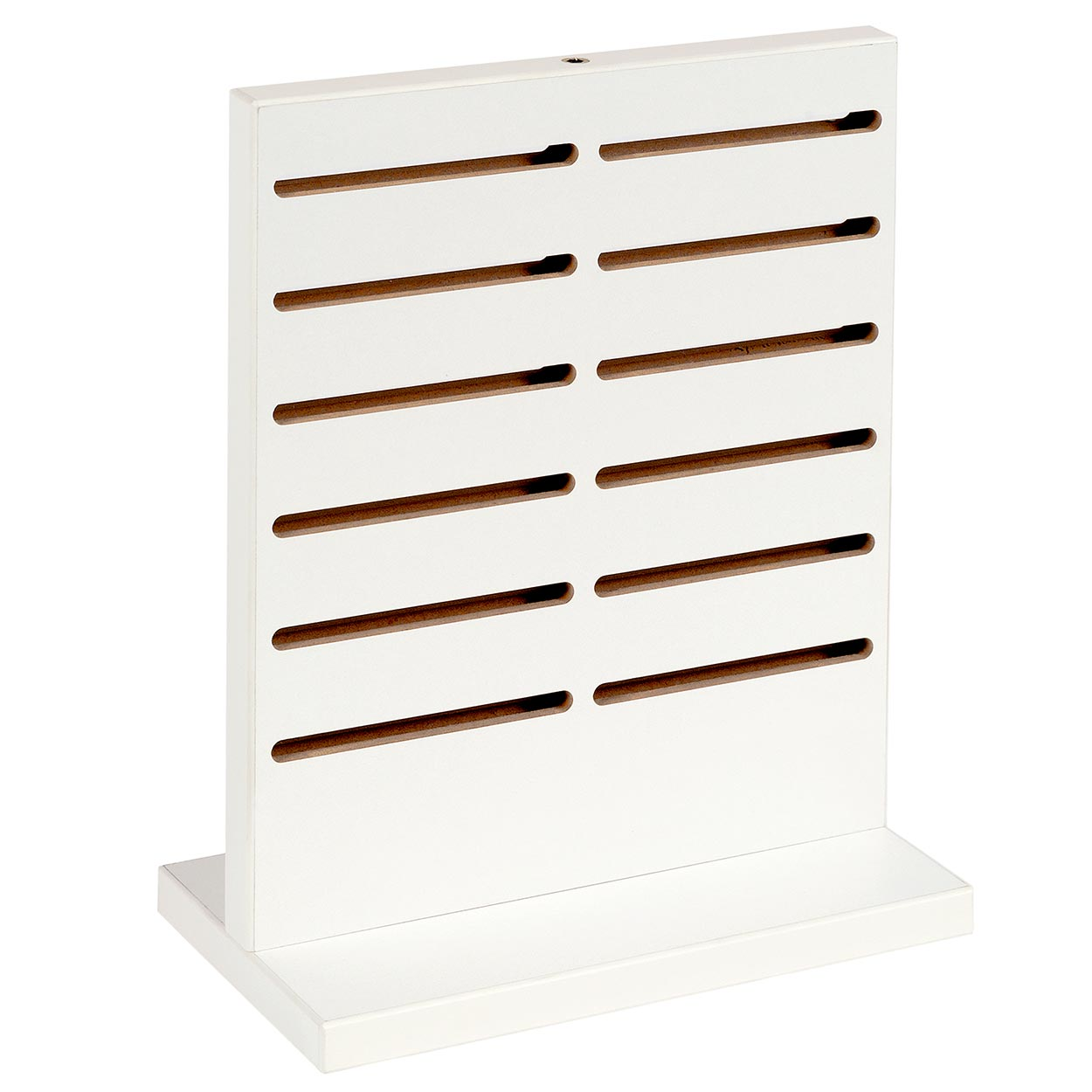 Jewellery Display White Counter Top Panel. Double Sided. Dim 250(W) x 140(D) x 318mm(H). Hooks not included.