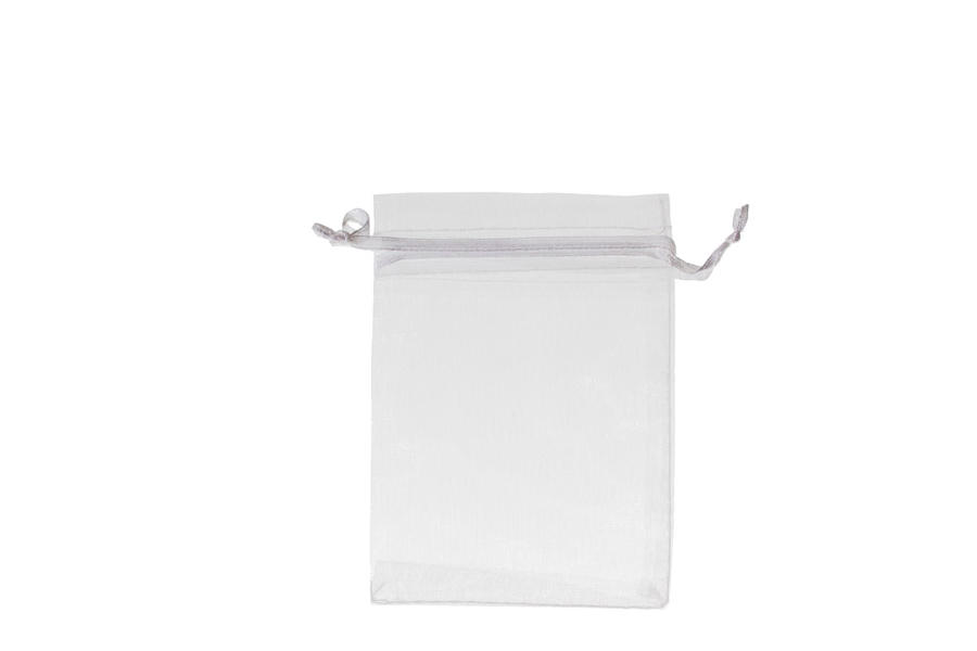 Plain White Organza Bags. Price for pack of 100. Dimensions 7cm(W) x 9.5cm(H).
