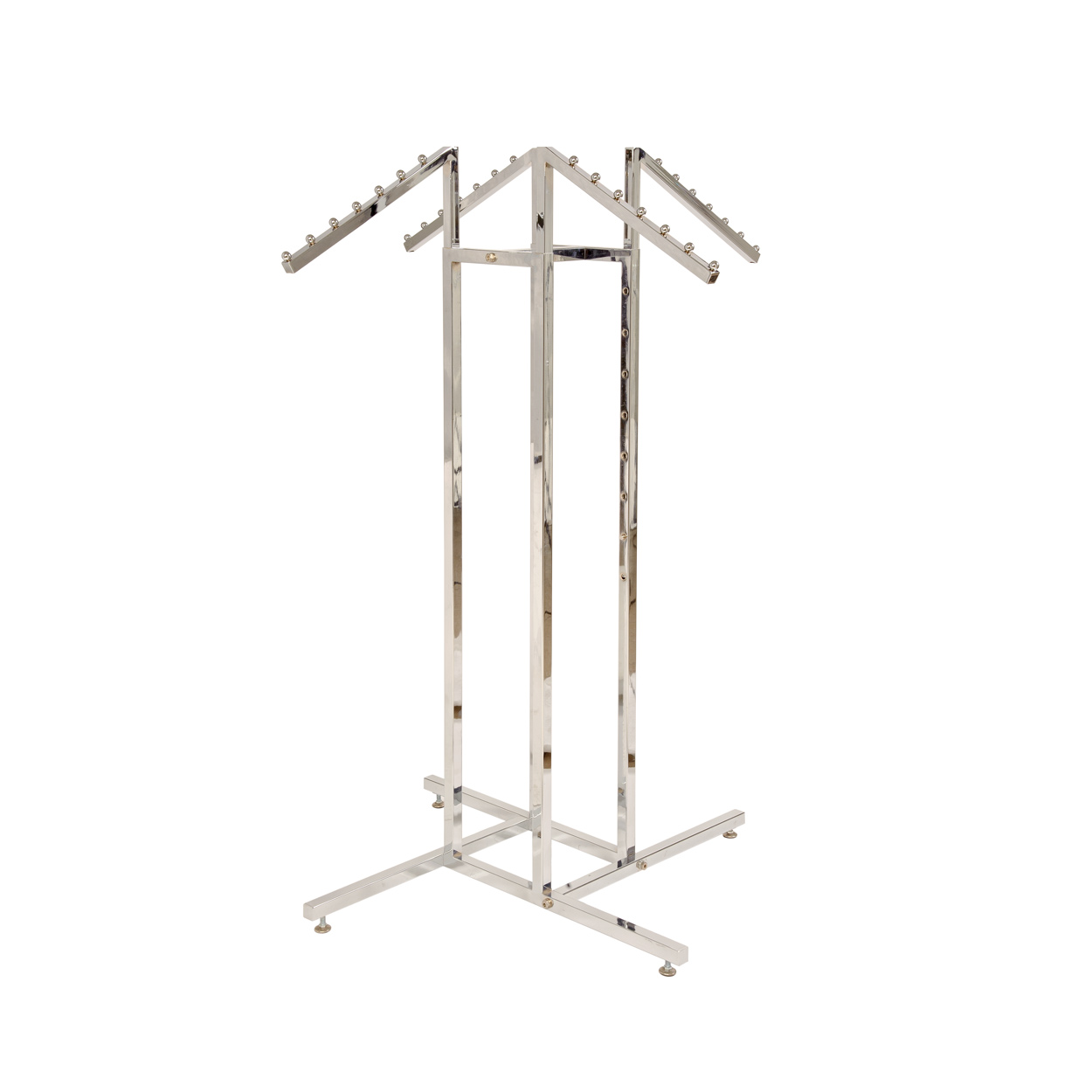 4 Way Clothes Rack Kit. Height 1190mm x Width890mm x Depth 890mm x Length (Straight Arms) 405mm