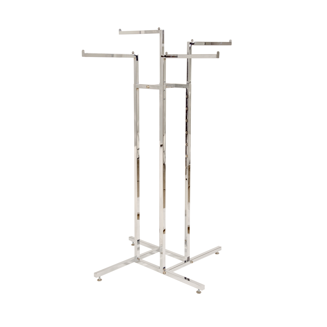 4 Way Clothes Rack Kit. Height 1190mm x Width 890mm x Depth 890mm x Length (Waterfall Arms): 380mm