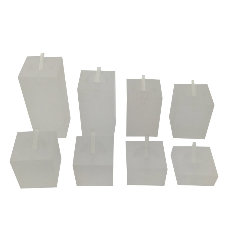 Set of 8 Premium Frost Acrylic Ring Display Set. Varying Heights.