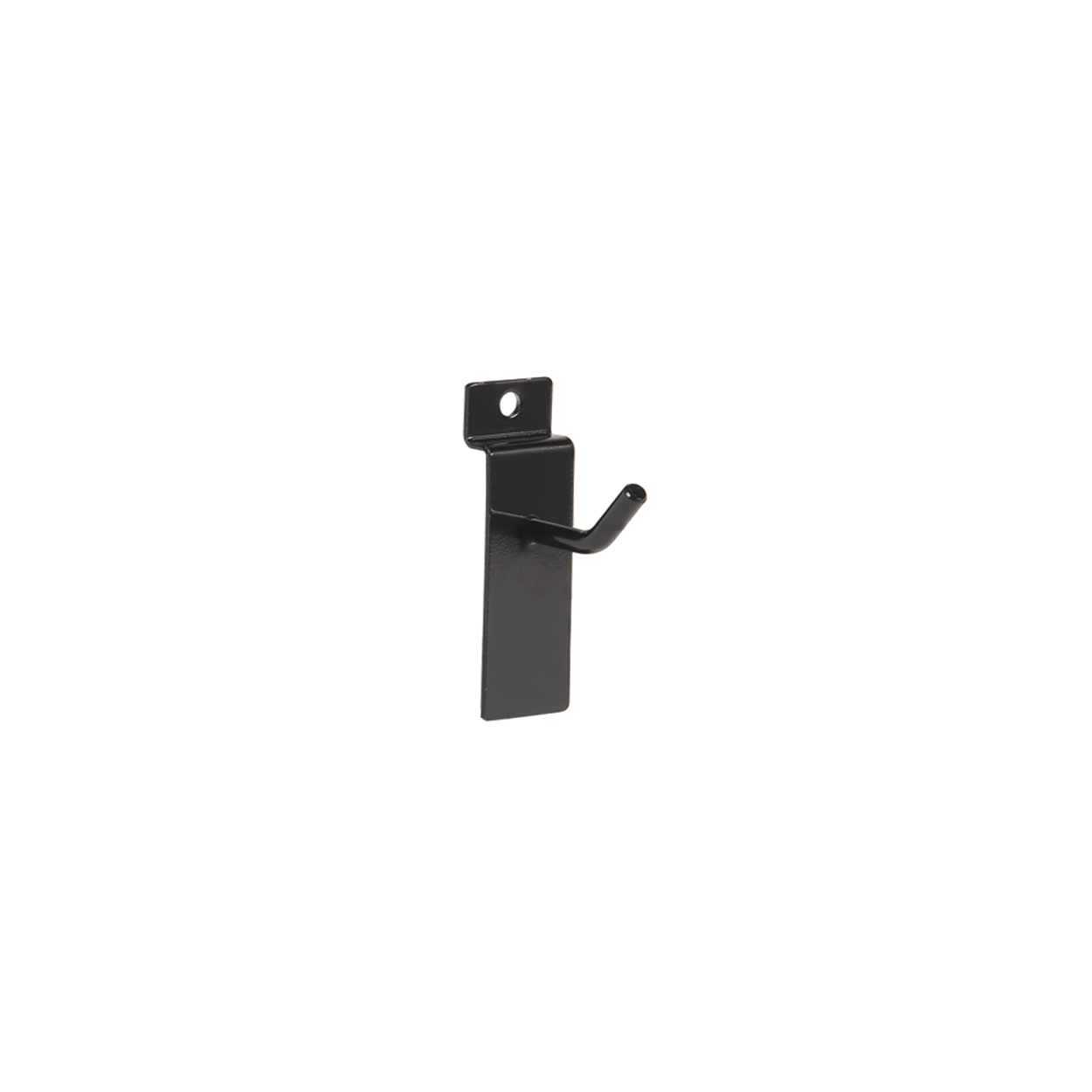 Small Black Counter Top Panel Hook. Dim 50L x 5.8mm Diameter