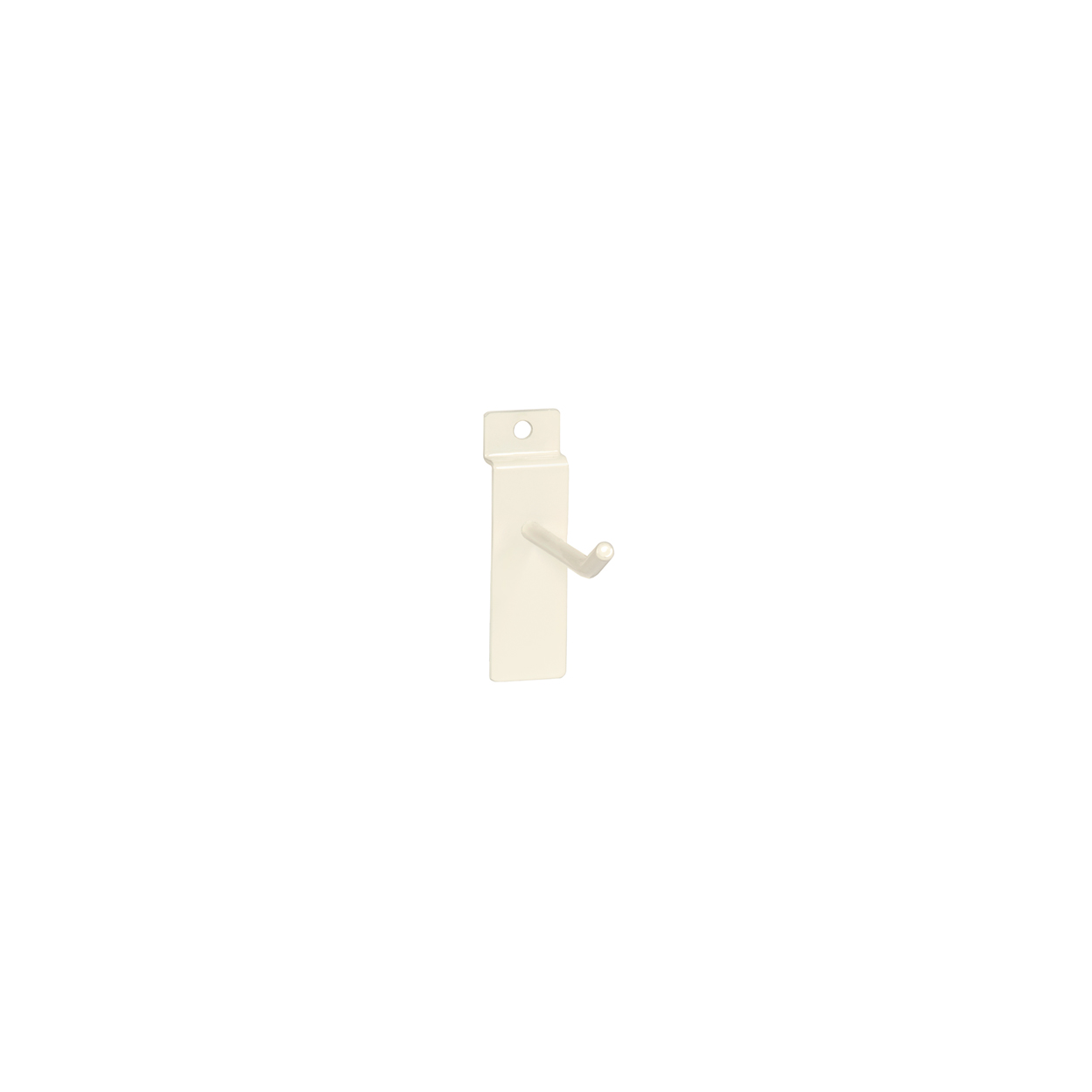 Small White Counter Top Panel Hook. Dim 50L x 5.8mm Diameter