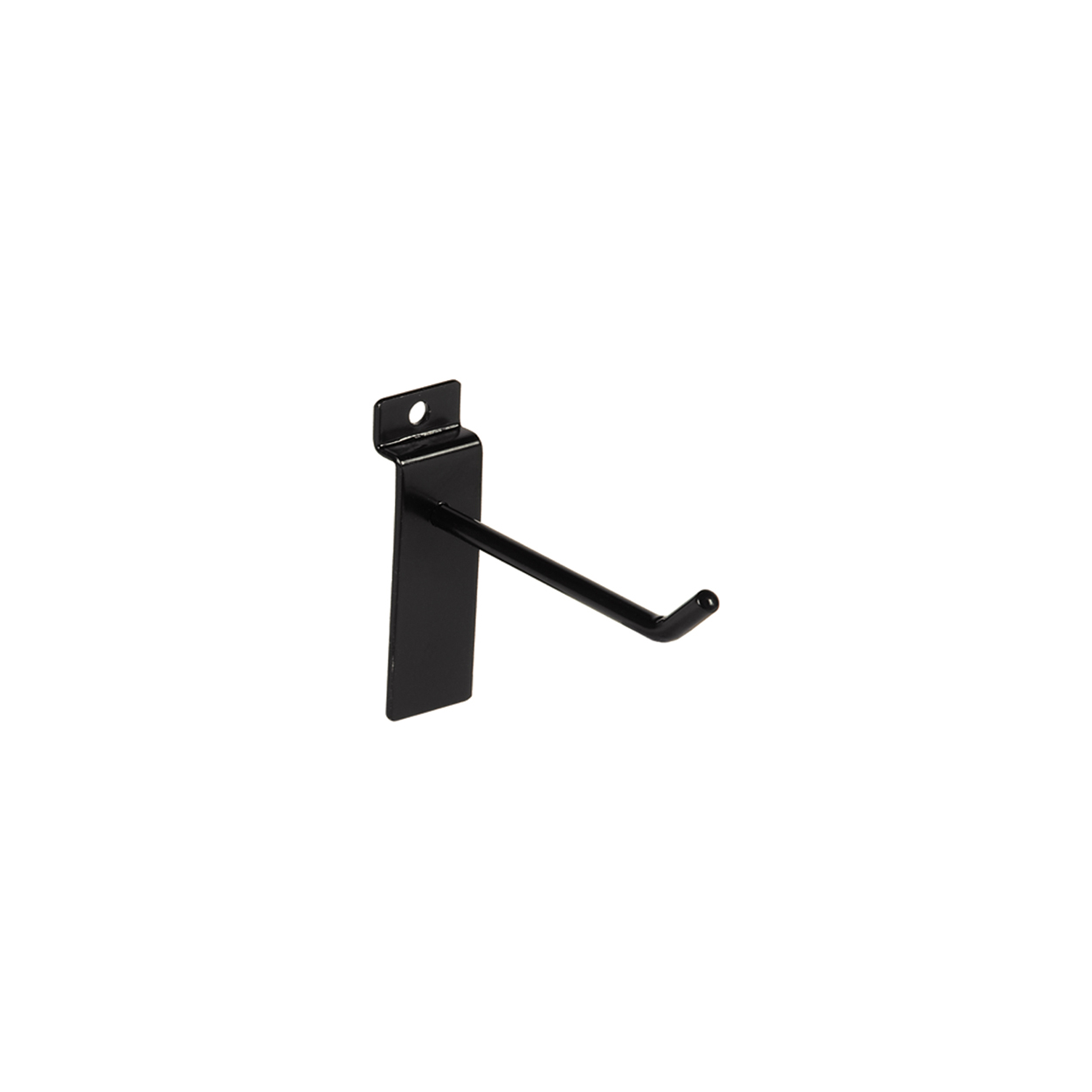 Large Black Counter Top Panel Hook. Dim 100L x 5.8mm Diameter