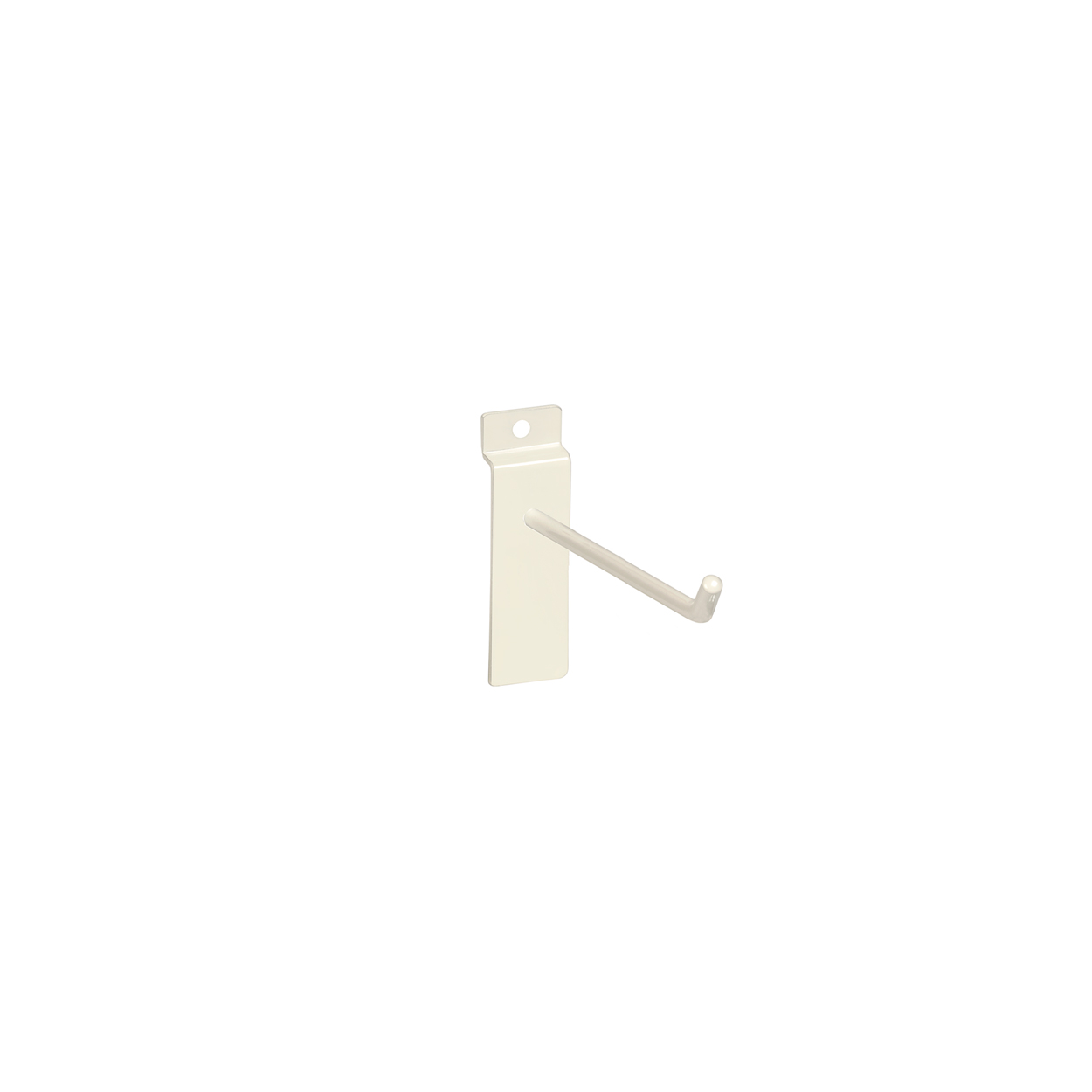 Large White Counter Top Panel Hook. Dim 100L x 5.8mm Diameter