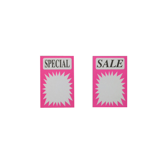 Sale and Special printed Sale signs - Pack of 60