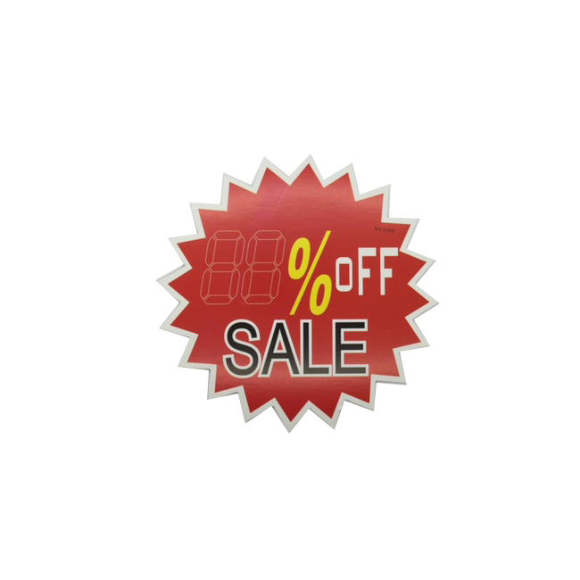 Percentage Off SALE sign - Pack of 10