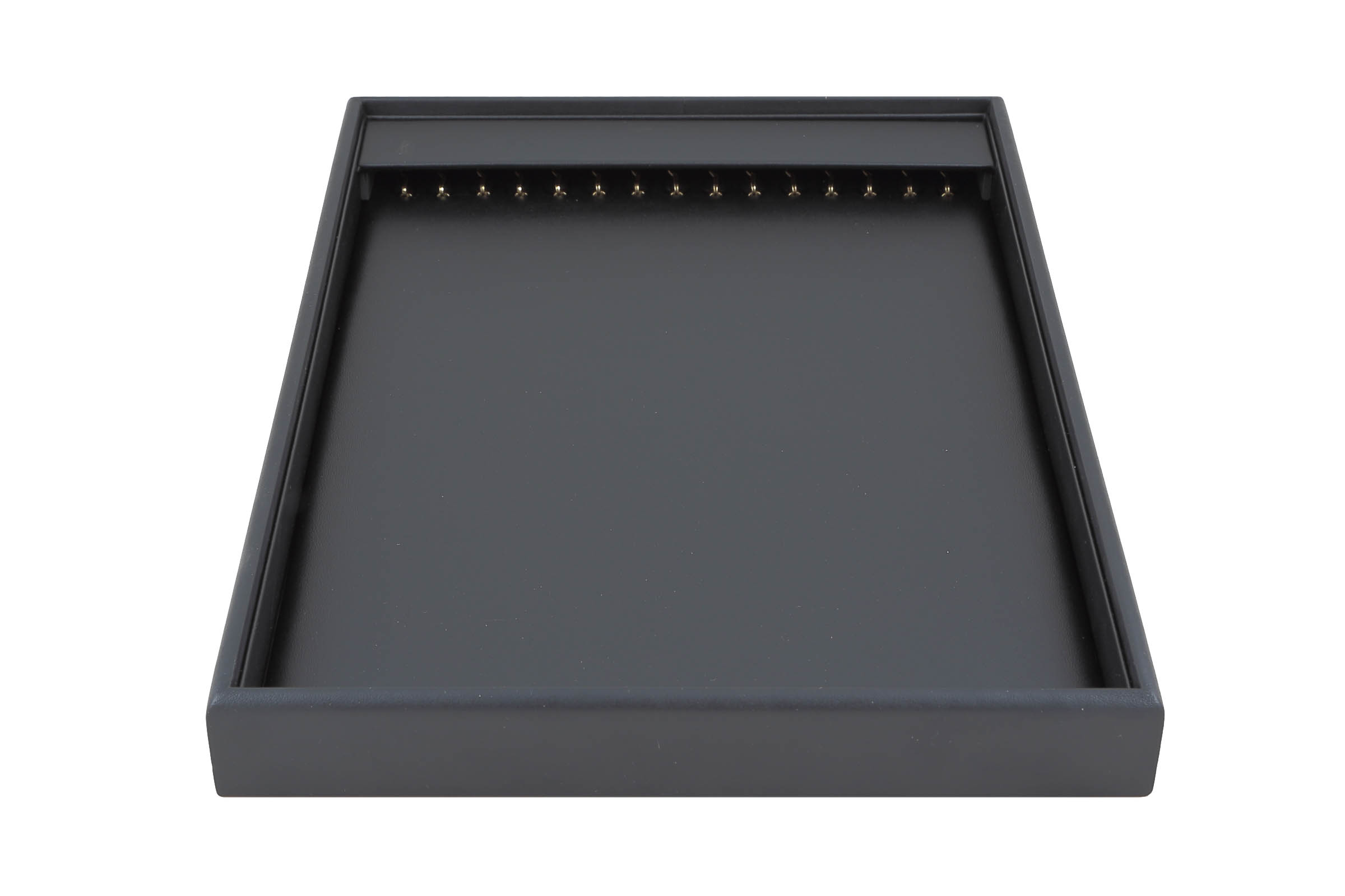 1 x Black Premium Soft Padded Leatherette Necklace or Bracelet Display Tray. Stackable. Dim 315(w) x 225(d) x 30mm(h).