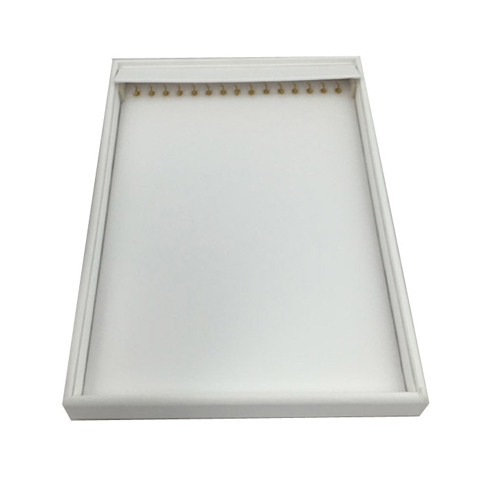 1 x White Premium Soft Padded Leatherette Necklace or Bracelet Display Tray. Stackable. Dim 315(w) x 225(d) x 30mm(h).