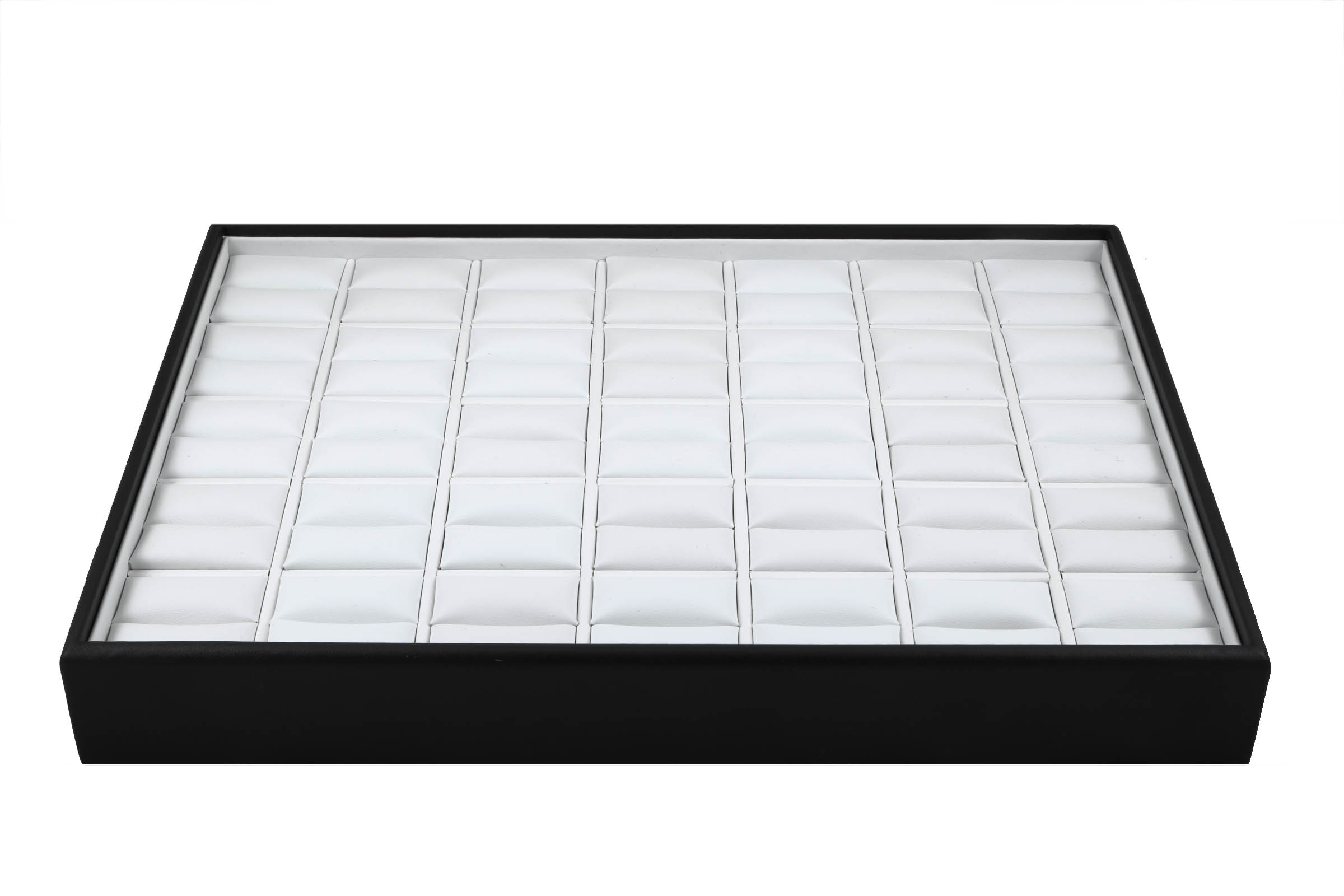 1 x Black and White Premium Soft Padded Leatherette Ring Display Tray. Stackable. Dim 315(w) x 225(d) x 45mm(h).