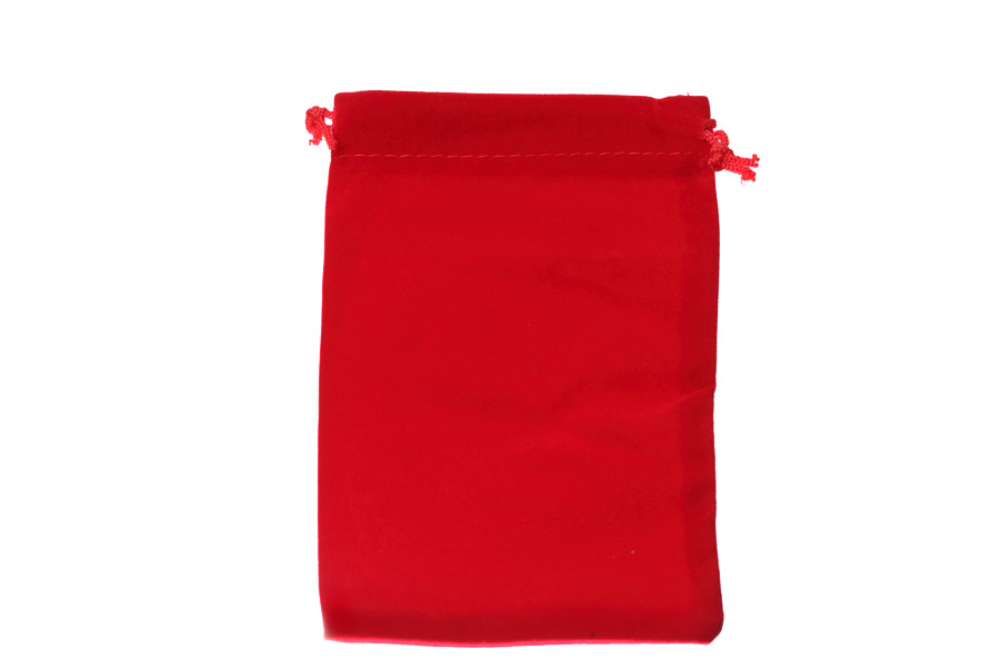 Velvet Bags Large Red Colour. Price for 100 bags. Dimensions 10cm(W) x 15cm(H).