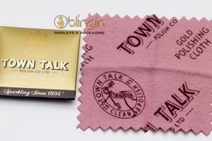 DINKY SIZE GOLD POLISHING CLOTH BY MR TOWN TALK- 6.5X6.5CM