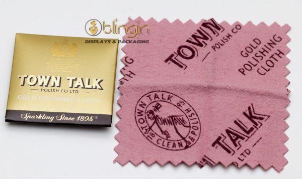 DINKY SIZE GOLD POLISHING CLOTH BY MR TOWN TALK- 6.5X6.5CM
