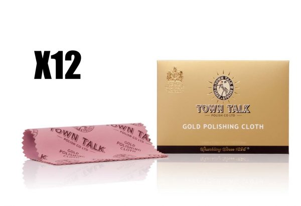 Instant Use Gold Polishing Cloth By Mr TOWN TALK 12.5cm X 17.5cm