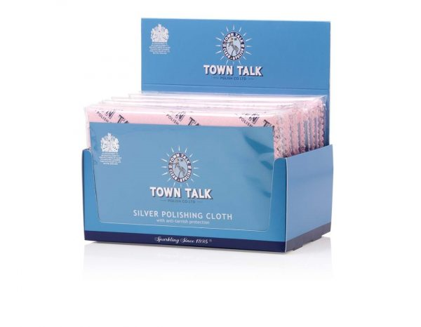 Bulk Box of 12 MR TOWN TALK ORIGINAL IMPREGNATED SILVER CLOTH 30 X 45CM. FOR SILVER AND STAINLESS STEEL WATCHES