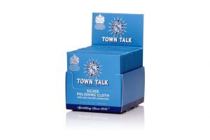 Box of 100 Wholesale Bulk lot of Town Talk Original Silver Polish Cloth 7 x 14cm