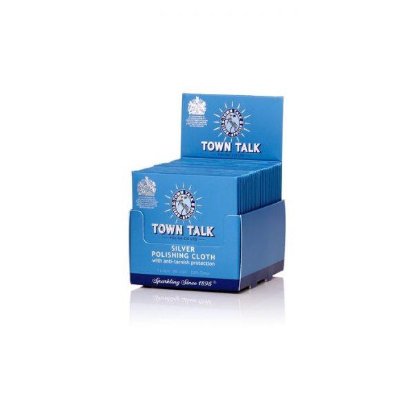 Box of 100 Wholesale Bulk lot of Town Talk Original Silver Polish Cloth 7 x 14cm