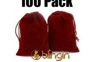 Wholesale burgundy Red velvet bags