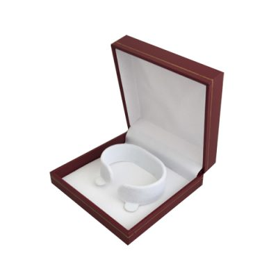 bangle bracelet or watch leather look gift box